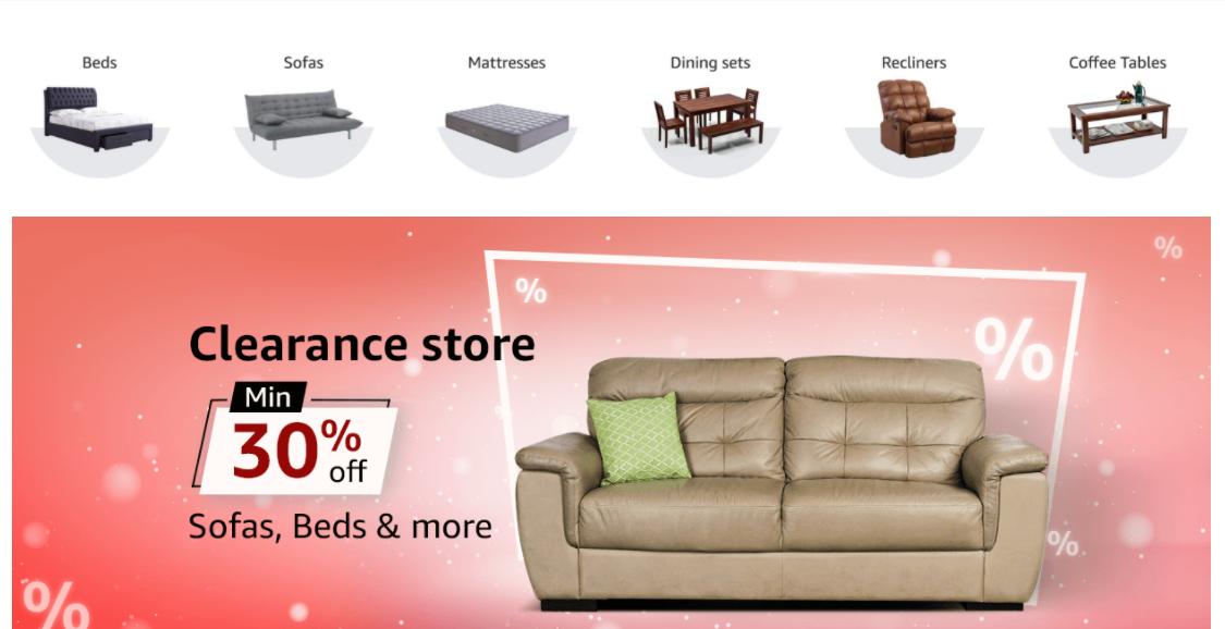 amazon furniture categories
