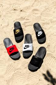 Image result for slides worn at the beach