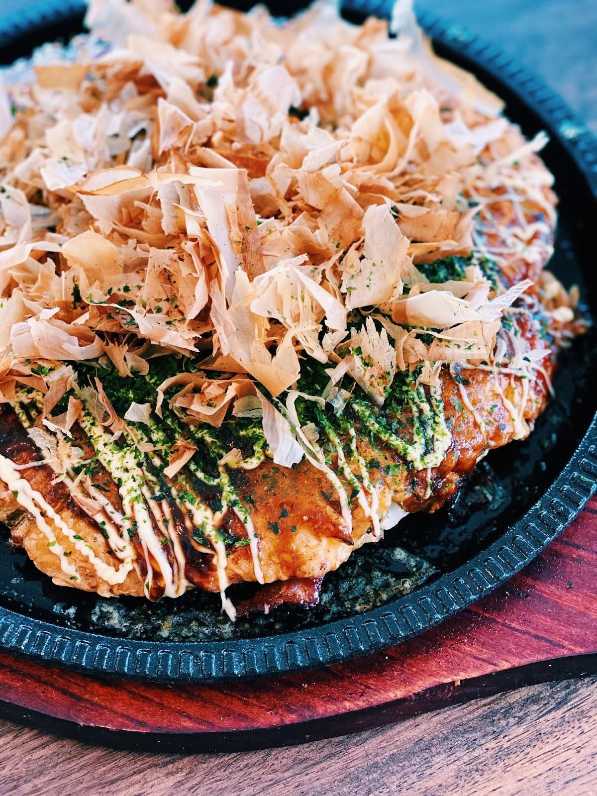 Okonomiyaki - Japanese Savory Cabbage Pancake