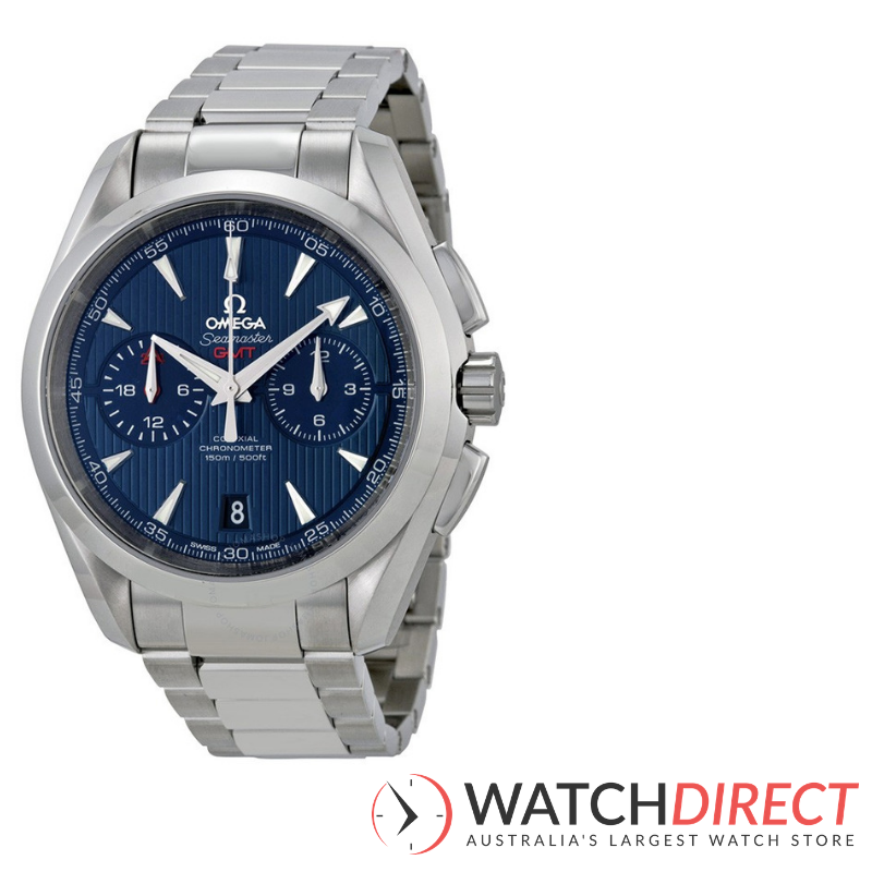 Omega Seamaster Aqua Terra Chronometer Blue Dial Men's Watch available through Watch Direct.