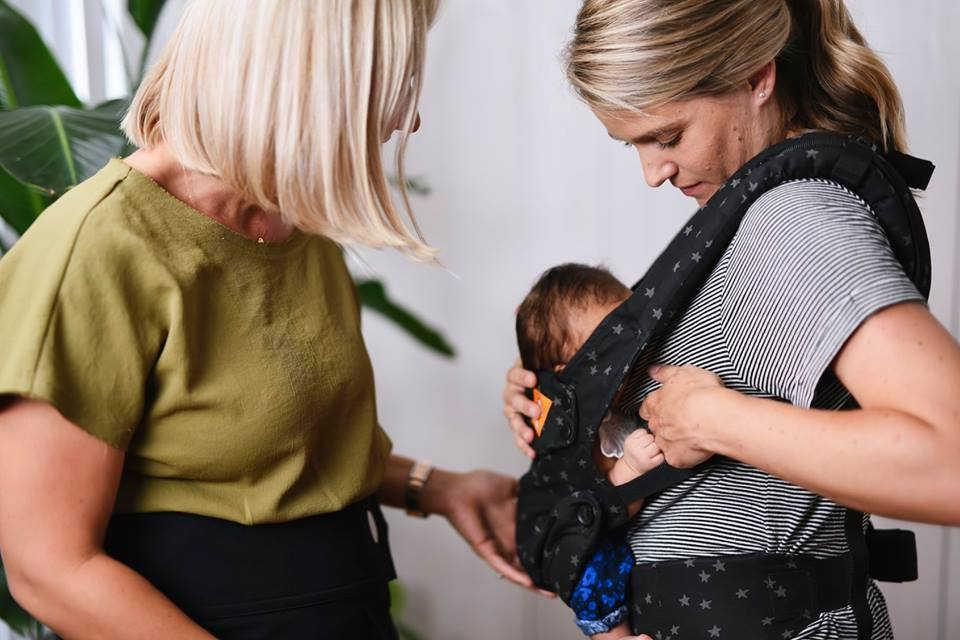Breastfeeding in a Tula carrier