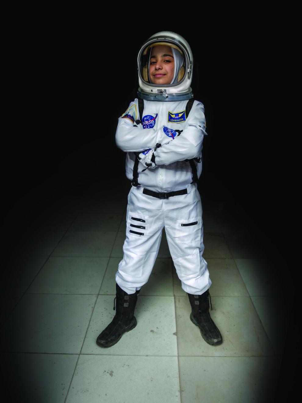 Haja, 12, future astronaut