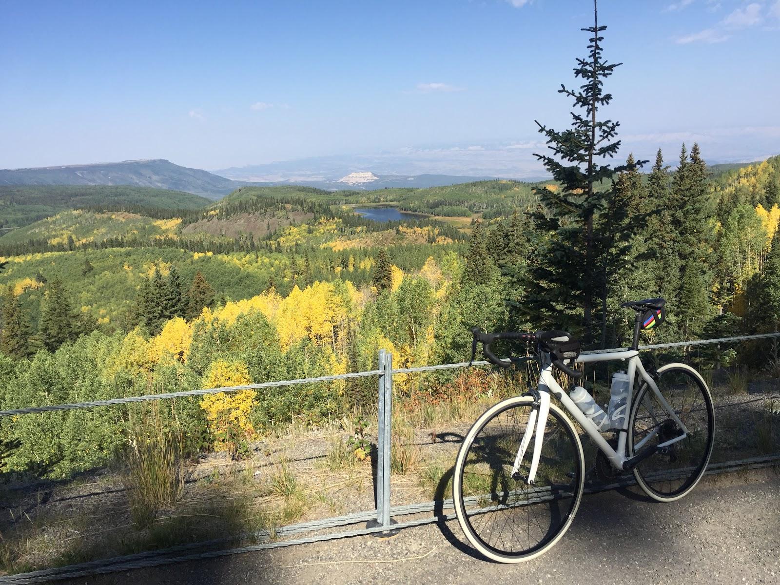Bicycling Grand Mesa North - chalk mountain