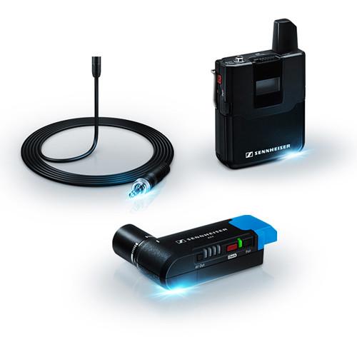 Lavalier: Sennheiser AVX Camera Mountable Lavalier Digital Wireless Set