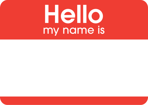 Name Label Sticker