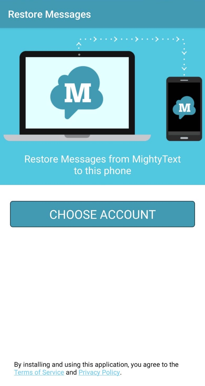 Restore Messages from MightyText to Android Phone – MightyText Help