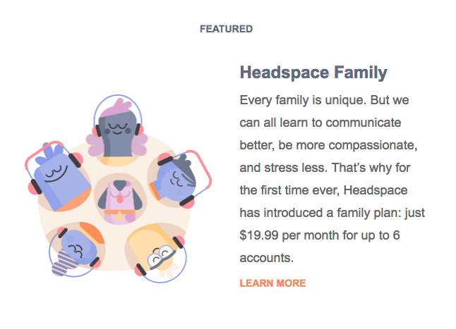 headspace expansion email