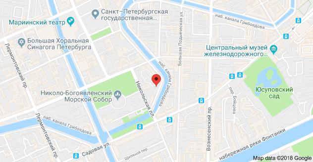 наб. канала Грибоедова, 123, Санкт-Петербург, 190068: карта