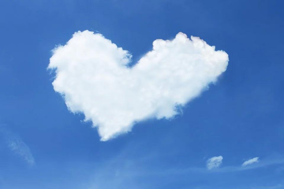 a heart shape cloud