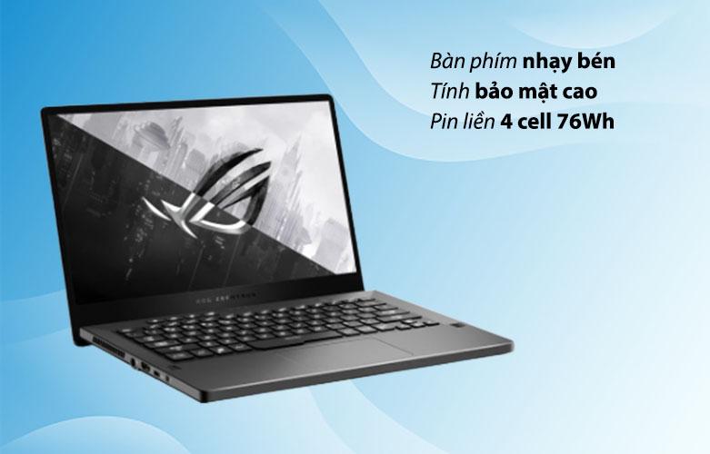 Laptop ASUS ROG Zephyrus G14 GA401QC-HZ022T 90NR05T6-M00500| Bàn phím siêu nhạy | Pin dung lượng cao