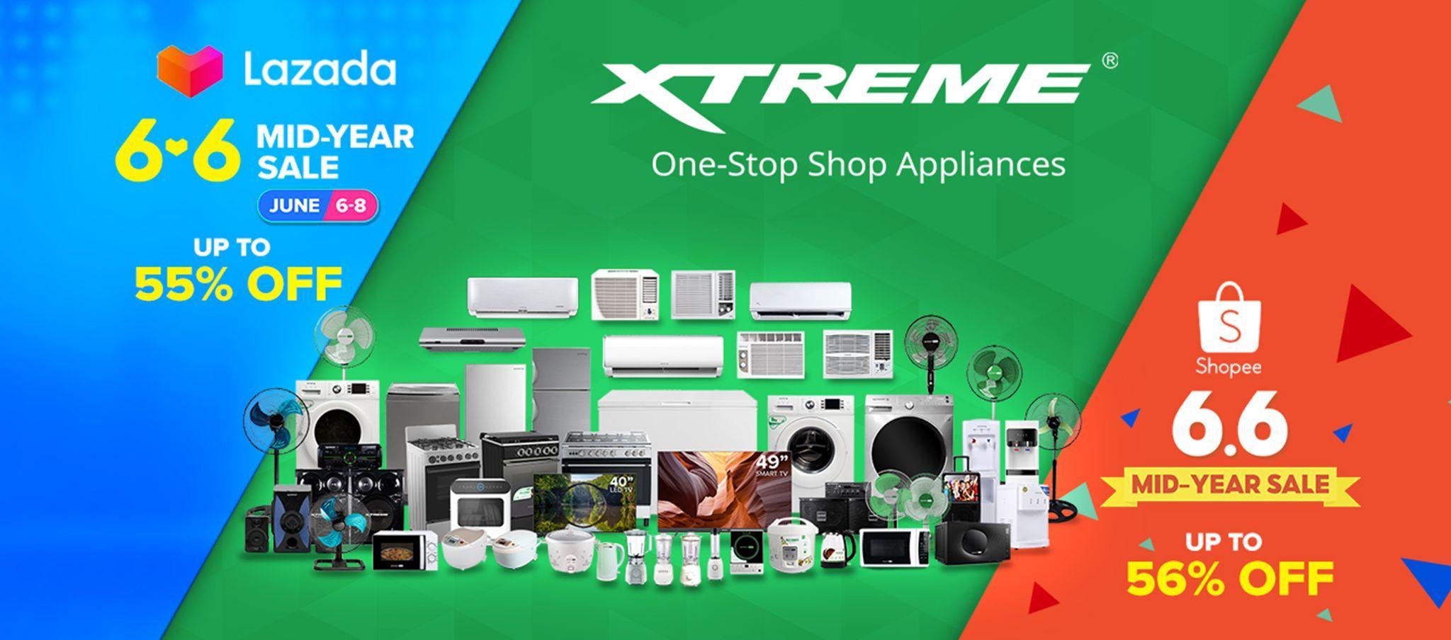 XTREME sale on Lazada and Shopee