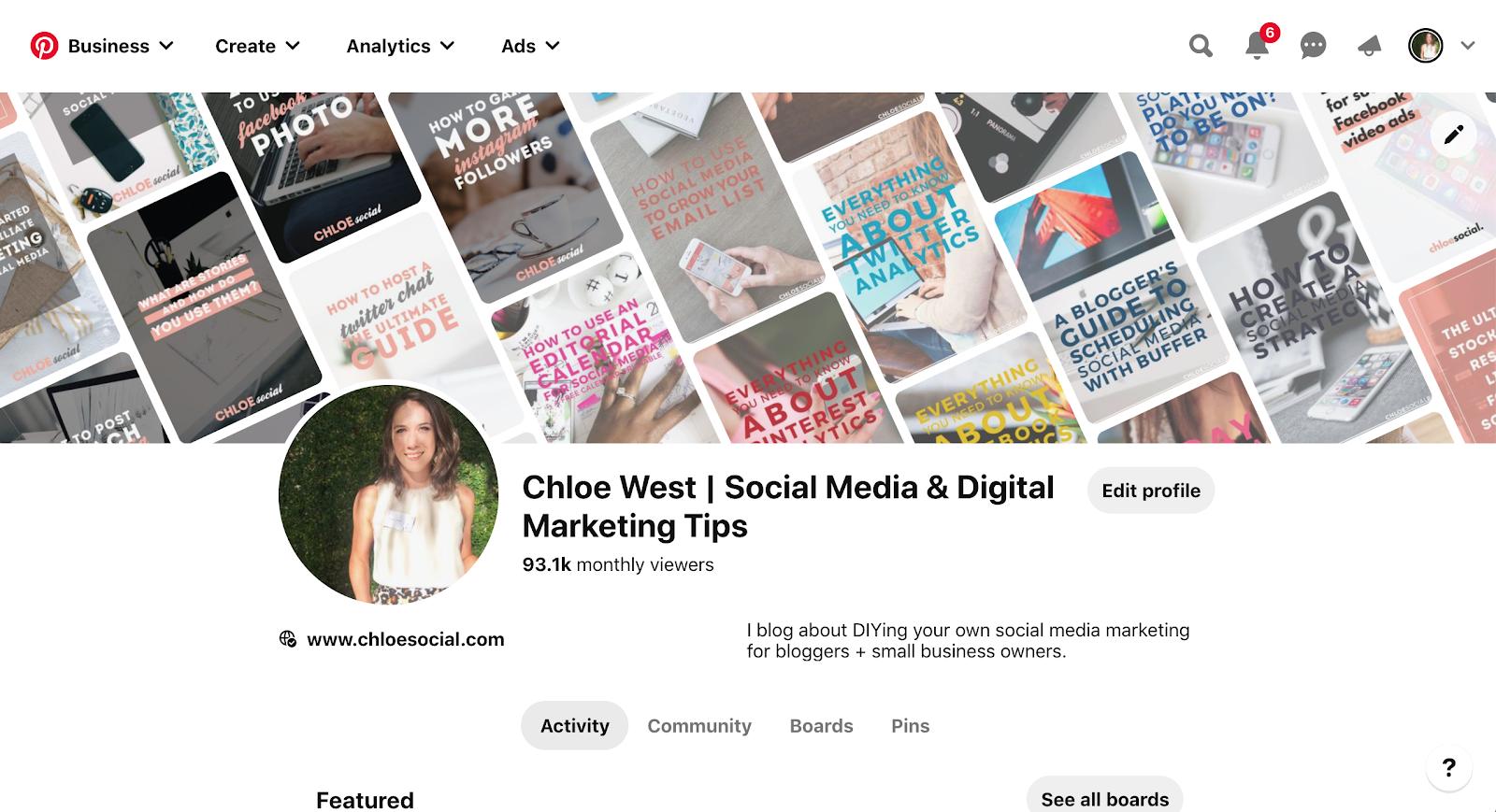 Perfil de Chloe West en Pinterest