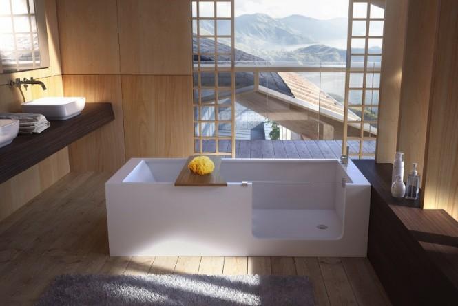 Thiết kế phòng tắm với không gian mở