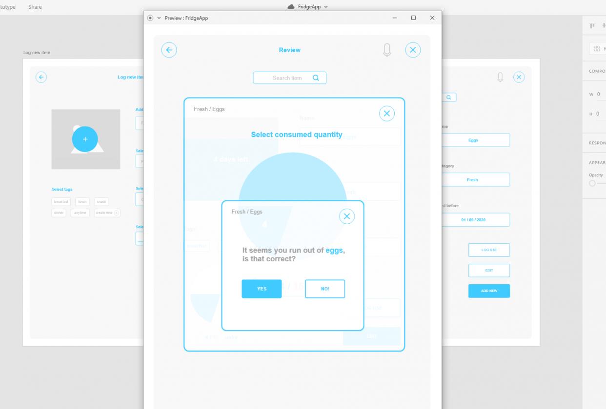UX design protoype