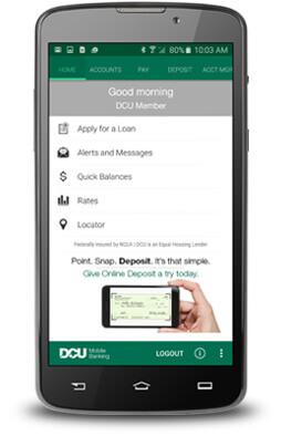 DCU Card Activation via Mobile app