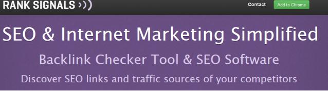 Rank Signals là công cụ bạn có thể lựa chọn để kiểm tra backlink