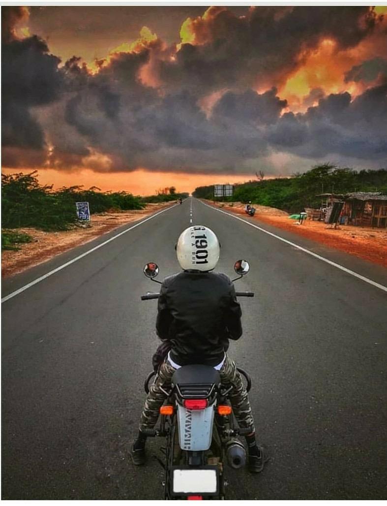 A rider admiring the dawn