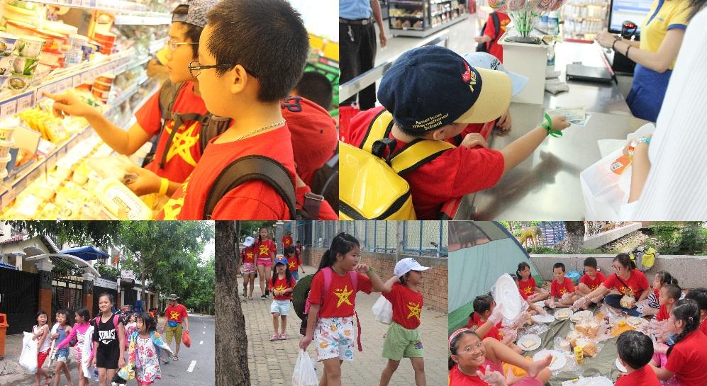 Học trò tự đi chợ, mua đồ, chọn món & bày tiệc picnic