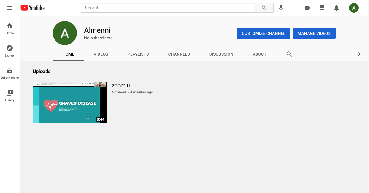 How to customize a youtube channel