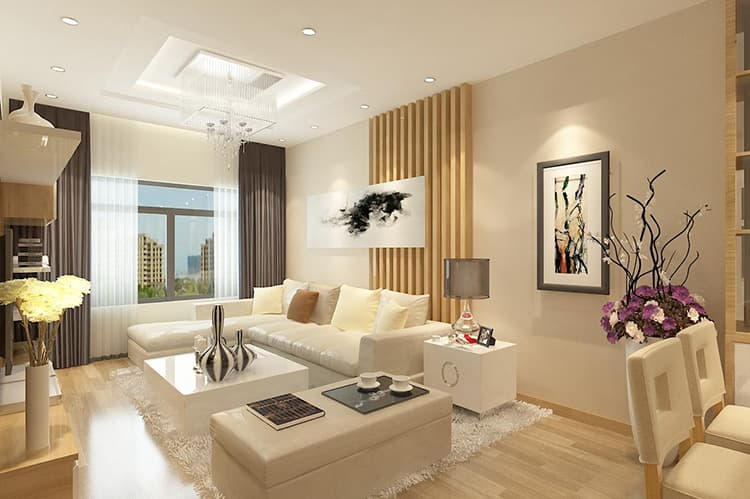 Đặc điểm của thiết kế nội thất phòng khách chung cư