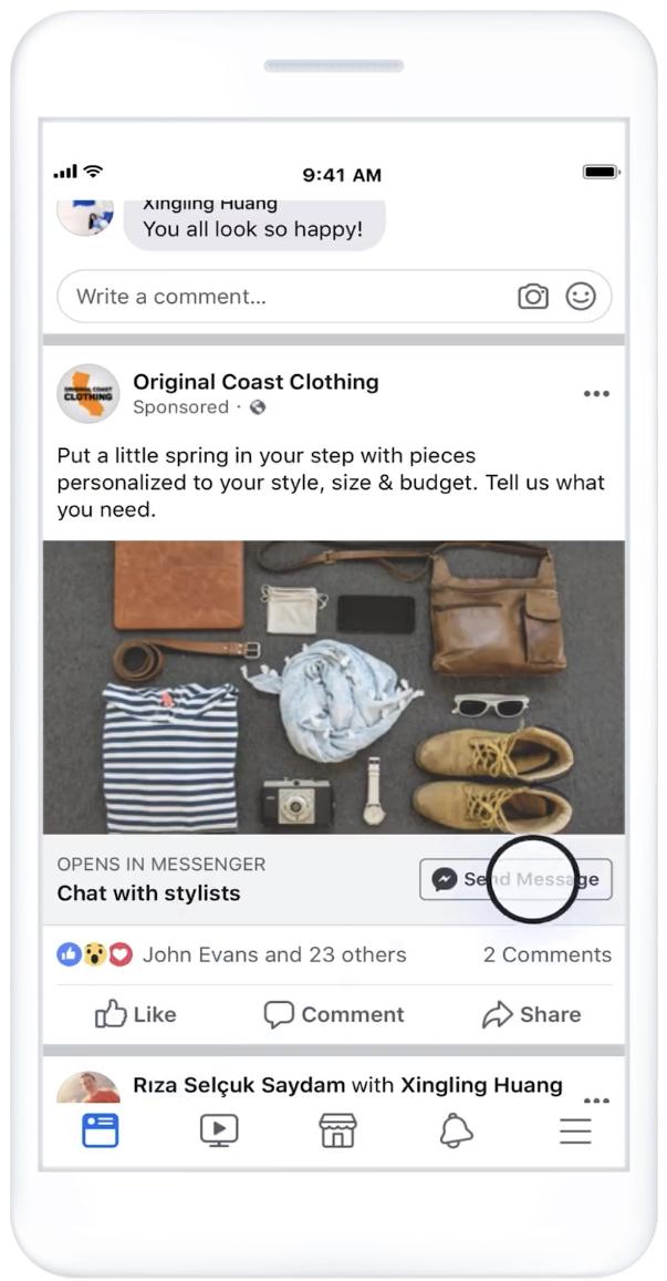 Facebook: Anunciamos el lanzamiento global de la generación de leads en Messenger 2