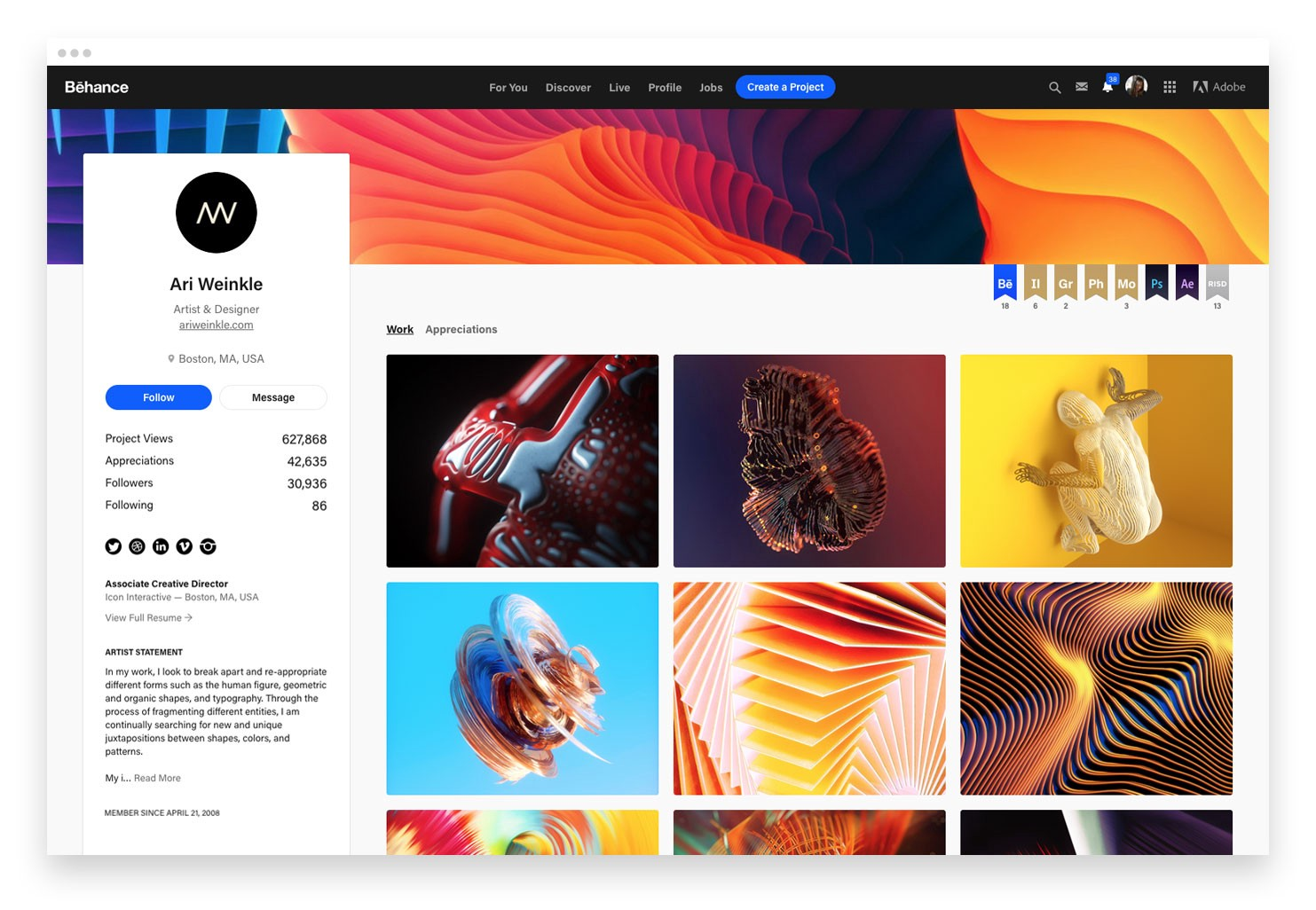 New Year, New Behance Profile and Project Page