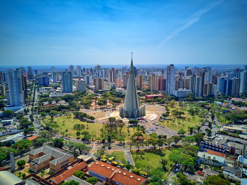 Maringá, no Paraná, é uma das cidades inspiradas no conceito de cidades-jardim. (Fonte: Shutterstock)