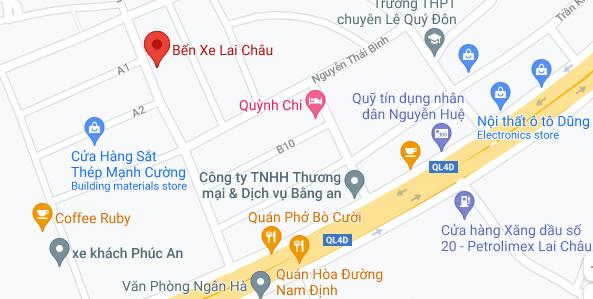 Địa điểm đón/trả khách tại Lai Châu