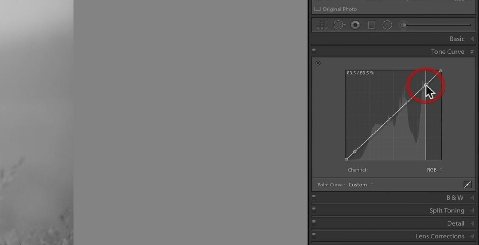 changing tones through curve