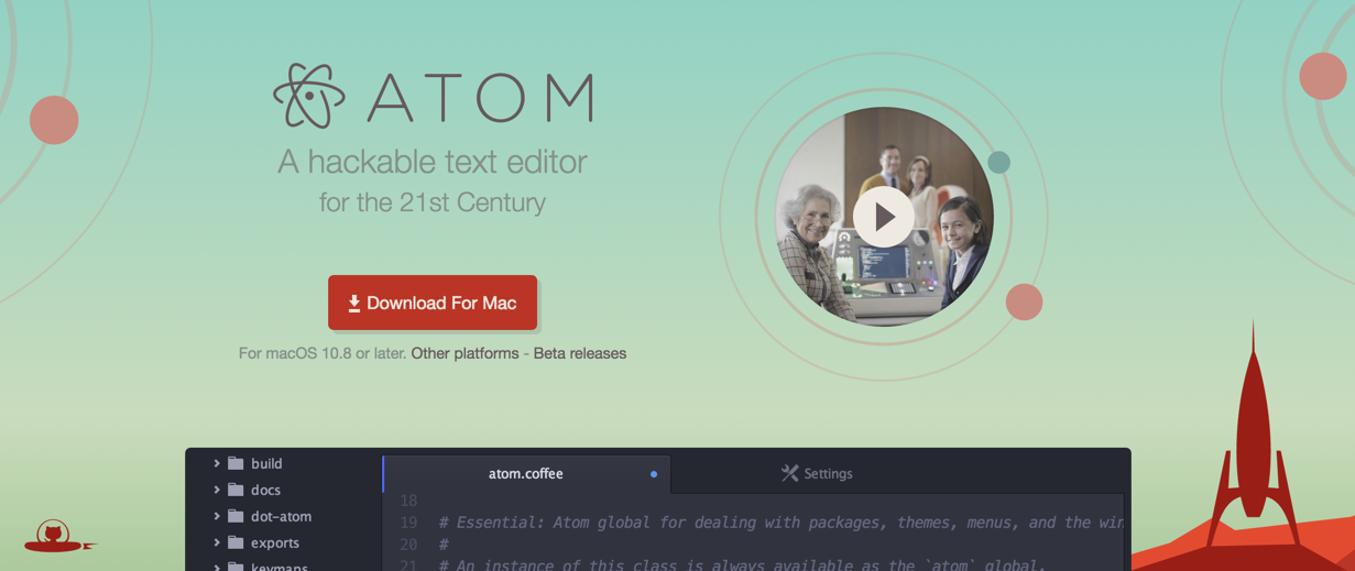 ATOM IDE can be used for Node.js and Javascript programming