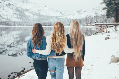 Image result for winter friends