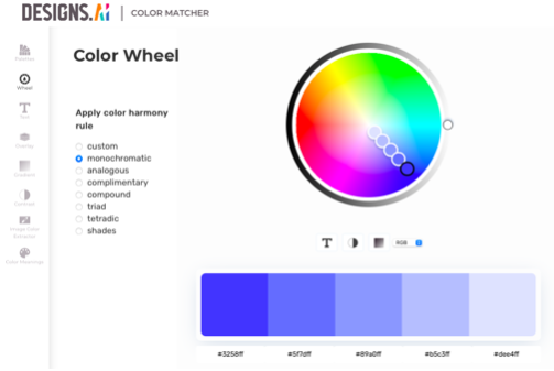 Designs.ai Color Matcher - Get Your Color Inspiration from Monet: The Greatest Impressionist