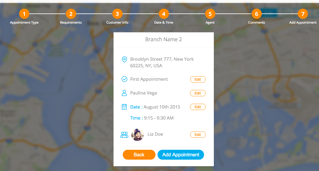 Appointment Booking UI-API Code Challenge