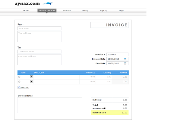 Aynax invoicing chrome web store for Www aynax com print invoice