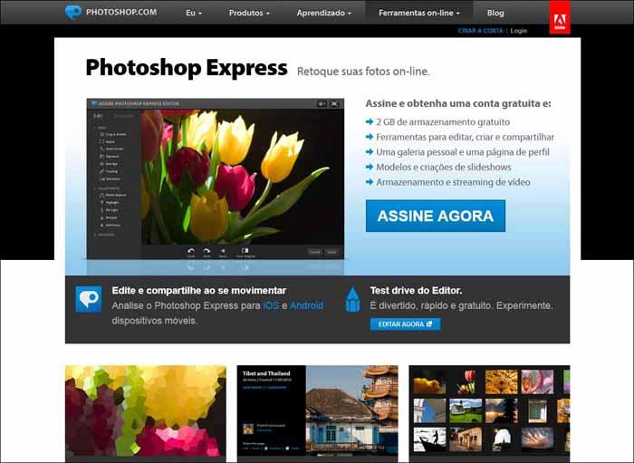 photoshop express 16 Melhores Editores de Fotografia Gratis para Utilização Online