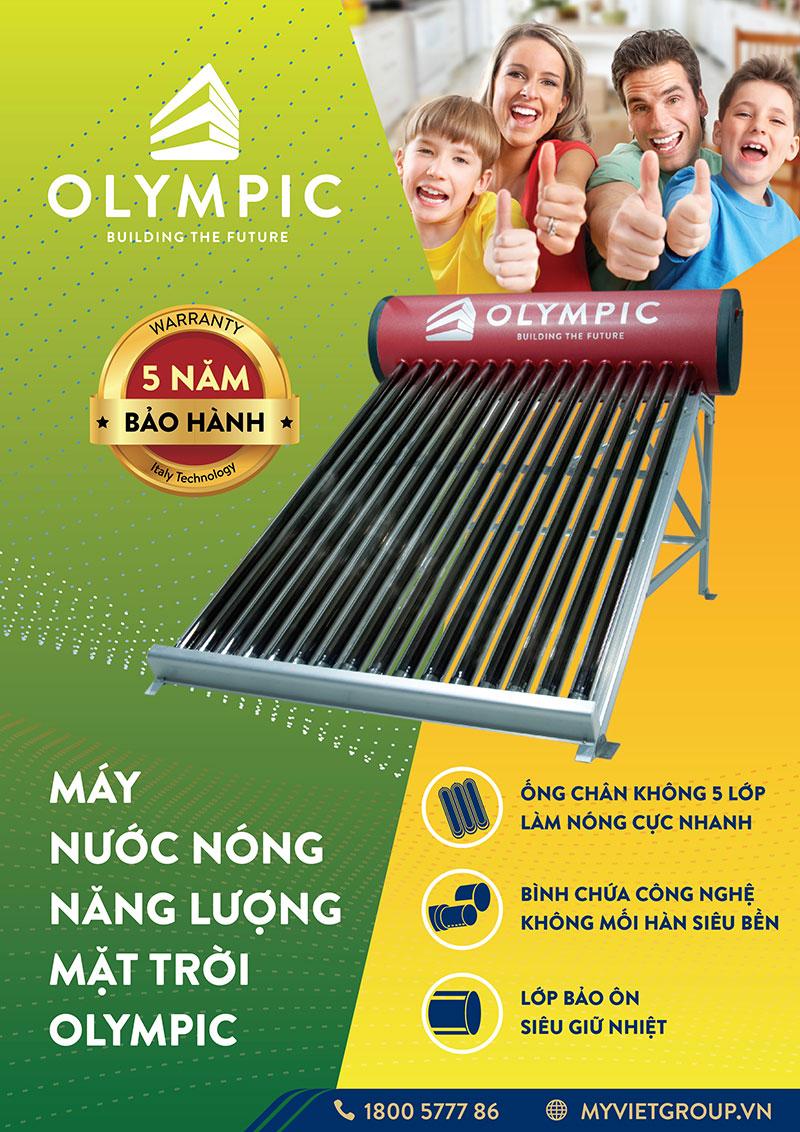 Chế độ bảo hành của máy nước nóng năng lượng mặt trời Olympic