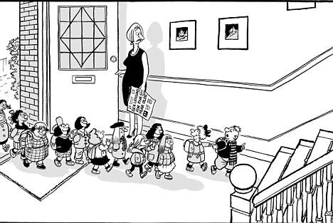 Sex education cartoon