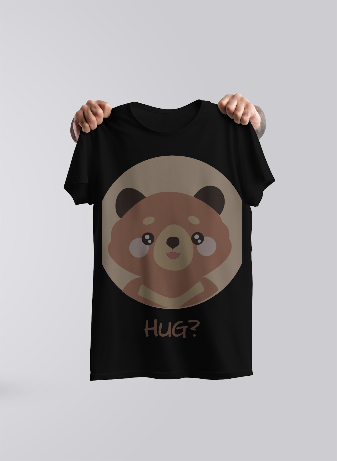 black t-shirt with the teddy bear design faded illustrating mistakes to avoid in your print-on-demand business