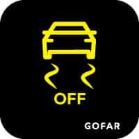 kiểm soát lực kéo xe ra khỏi biểu tượng an toàn