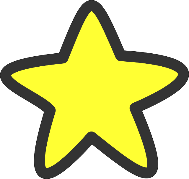 Star, Yellow, Shapes, Glowing,