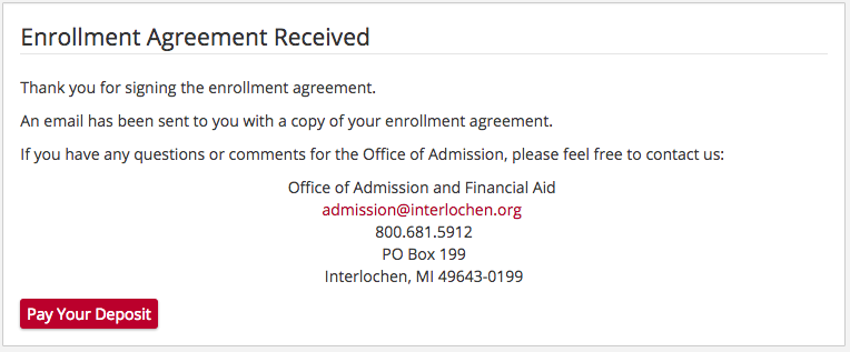 Interlochen Center For The Arts Camp Application Admissions