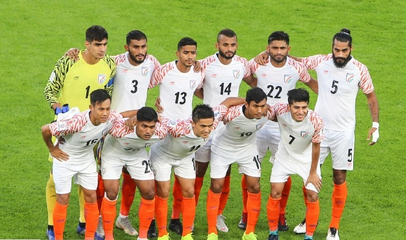 Indian football team at 2019 AFC Asian Cup.