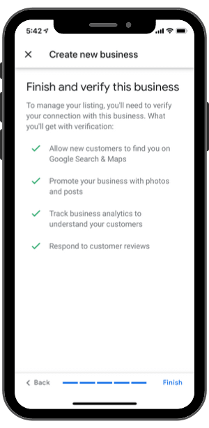 Google My Business-Step 8-Finish and Verify this business