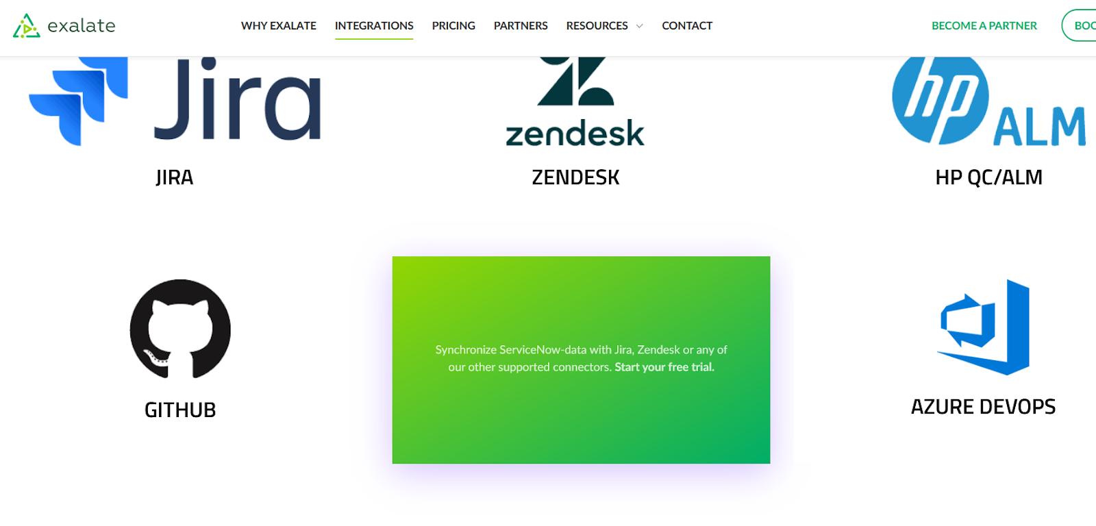 exalate for ServiceNow Azure DevOps integration