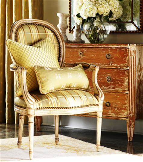 chair with silk upholstery