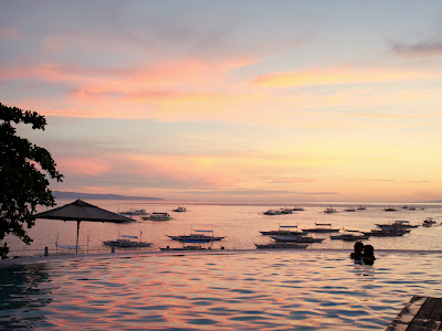 Sunset on Panglao in the Philippines