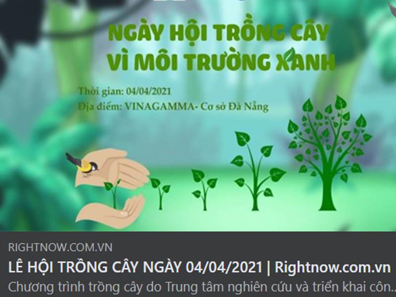 """Sự kiện """"Ngày hội trồng cây vì môi trường xanh"""" tại Đà Nẵng"""