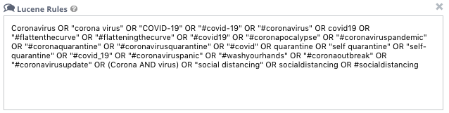 workflow tagging rules for COVID-19 keywords