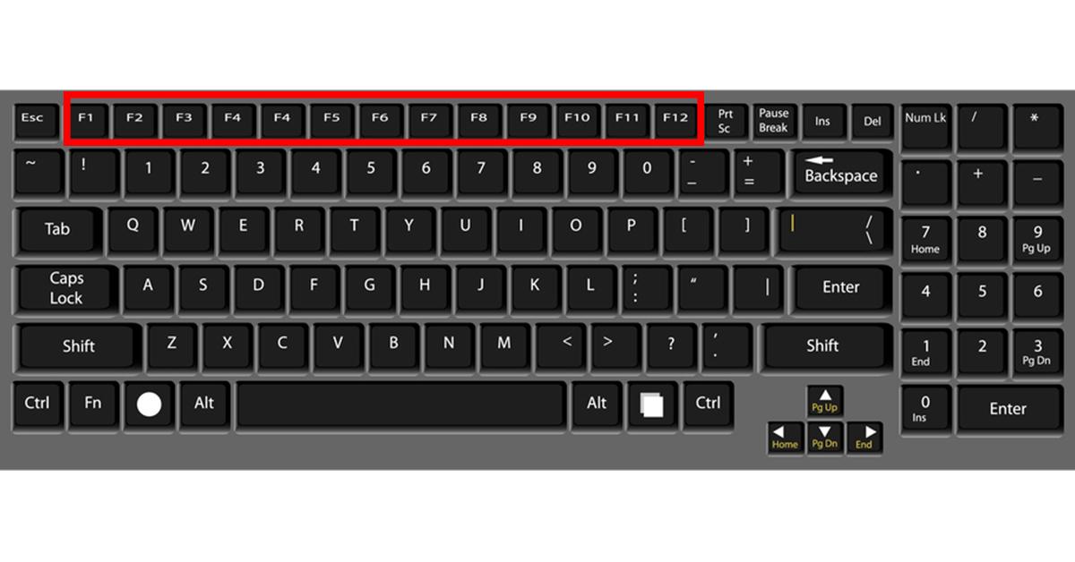 cách sử dụng các phím chức năng