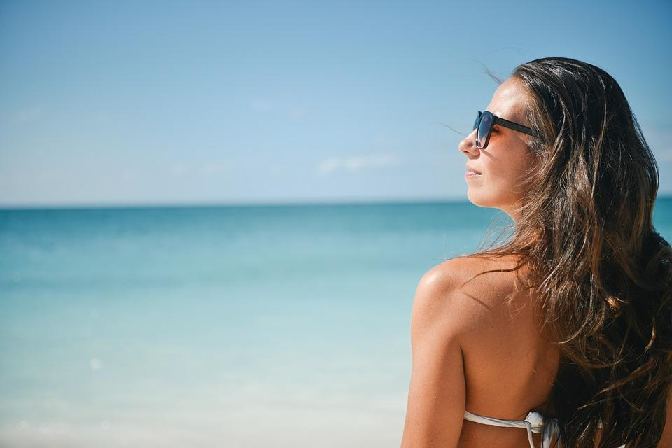 Niña, Bikini, Playa, Verano, Vacaciones, Mujer, Mujeres